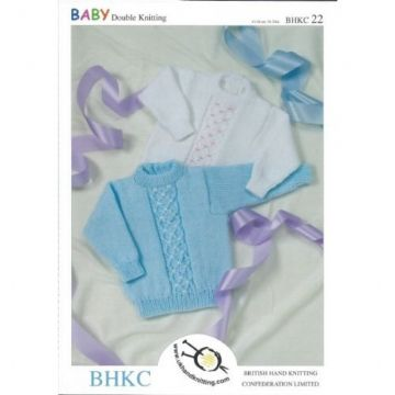 "BHKC 22 DK Baby's & Child's Sweater Knitting Pattern (16-24"")"